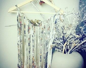 One of a kind Silver Vintage Sequins Cape.
