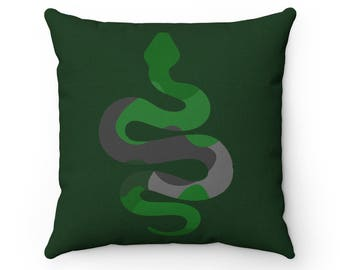 Slytherin Multicolor Throw Pillow
