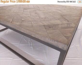 Huge Sale 150 Off READY TO SHIP Maple Herringbone Coffee Table