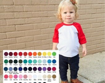 Raglan Shirt - BaseBall Shirt - Kids Baseball Tee - Kids Raglan Tee - Raglan tee - Raglan Tee Blank - 3/4 sleeve Raglan shirt - Baby raglan