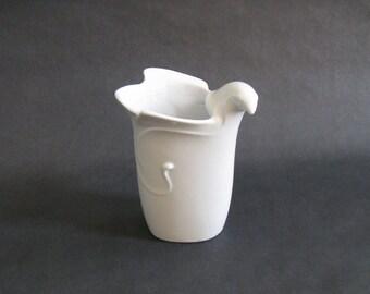Gunnar Cyren Porcelain Bird Bud Vase / Small Vessel - Dansk 1970s