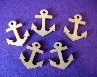 50 anchor, wood, 2.5 x 3 cm