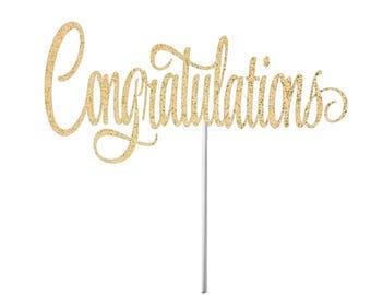 Congratulations Cake Topper, Party Decor, Congrats, Congrats, Party, Cake Topper, Congratulations, Retirement Party Cake Topper, Graduation