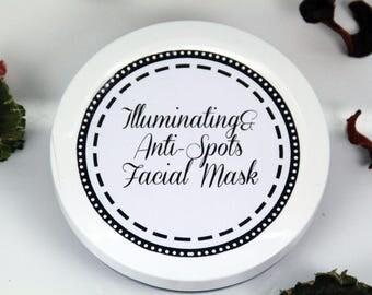Illuminating&Anti Spots facial mask, whitening face mask, anti spots mask