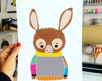 "Print ""pullover Donkey"""