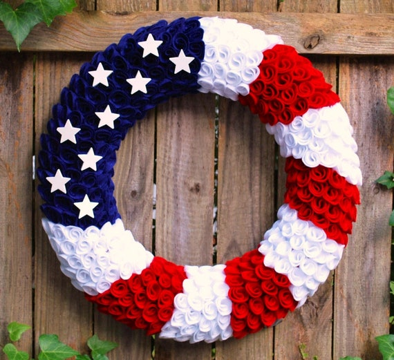 Felt Fourth of July Wreath