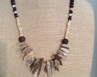 Statement Necklace, Long necklace, Gift for her, Boho jewelry, Fun jewelry