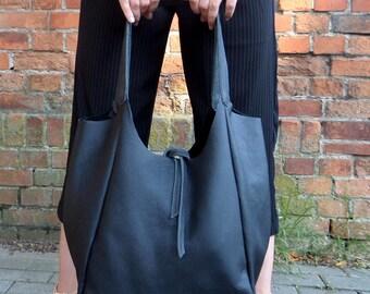 Soft blak leather bag - Sale!!!