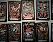 pre order - DIA de LOS MUERTOS - Day of the Dead - 78 tarot  more one -  plasticized - available in 15 may 2018 only 50 numered deck
