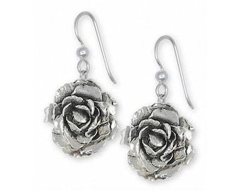 Peony Jewelry Sterling Silver Peony Earrings Handmade Flower Jewelry PNY-E