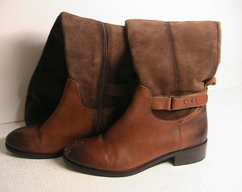Luichiny Boots, Women's Size 7  Leather Knee Boots, Soft Leather Knee Boots