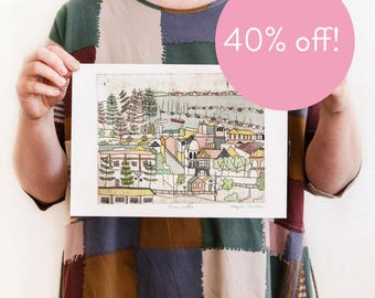 40% OFF! Fremantle - Reproduction of an Original Artwork - A4