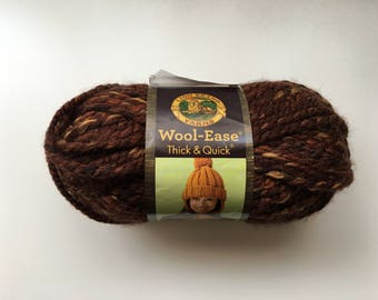 Lion Brand Wool-Ease Thick and Quick Yarn in Sequoia