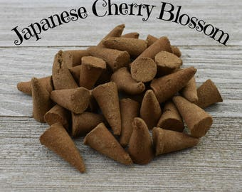 Japanese Cherry Blossom Incense Cones - Hand Dipped Incense Cones