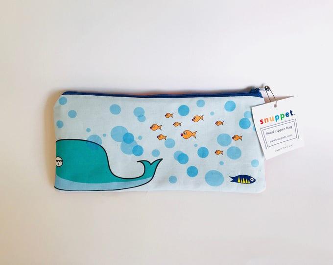 Ocean - Zipper Bag (store goggles, sunscreen for pool/beach)