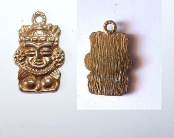 Golden Pendant pendant ethnic Indian Hindu goddess Inca tribal tiki for creation