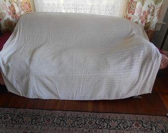 White Chenille Bedspread for Sewing or Crafting