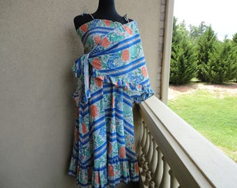 Floral Sundress With Wrap
