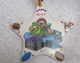 Comic Book Fan Custom Christmas ornament
