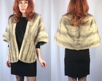 Vintage SIlver Mink Fur Stole