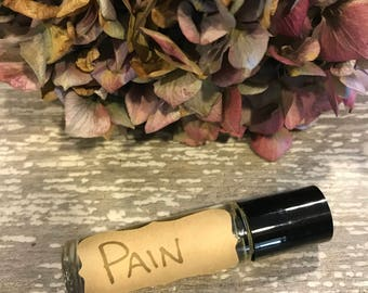 Pain Relief Essential Oil Rollerball - Back Pain- Knee Pain - Arthritis - Lyme Disease - Fibromyalgia