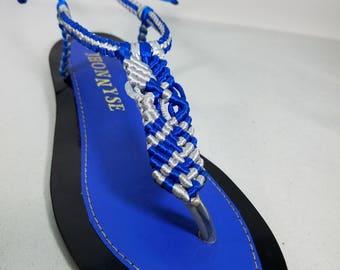 Silver Handmade Leather Sandal
