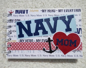 4x6 US Navy Mom Chipboard Mini Scrapbook