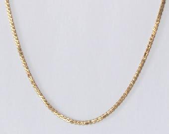 Serpentine Chain Necklace 18k yellow gold - sku 3861b3