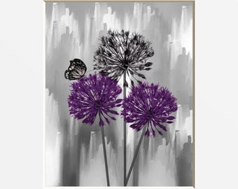purple bedroom decor. Black White Purple Floral Butterfly Decor  Bedroom Gray Home Pictures bedroom decor Etsy