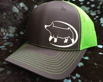 Show Pig Neon Mesh Snapback Hat