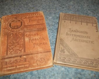 Two schools book from the 1800's