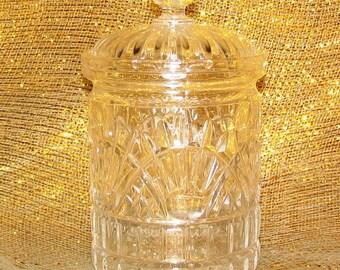 Vintage Godinger Freedom Cut Biscuit Jar