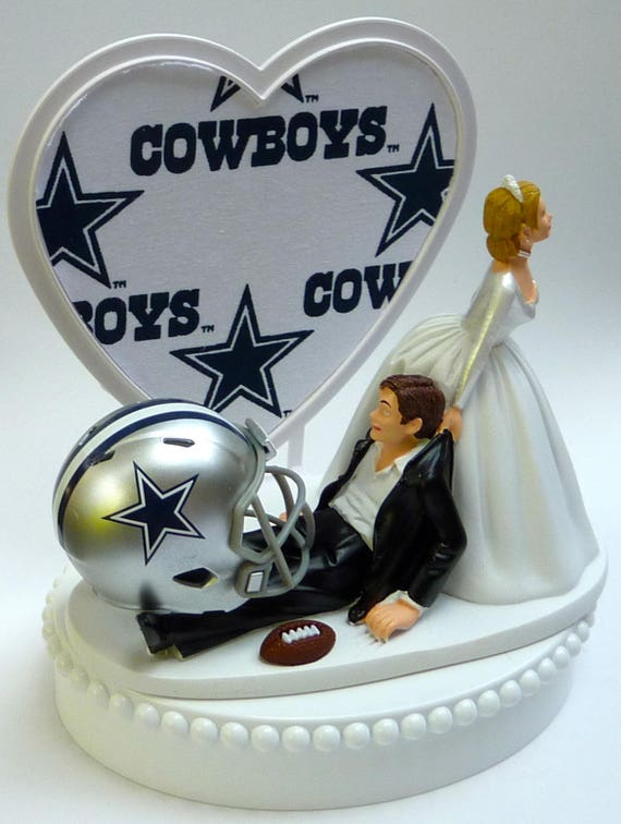 wedding cake toppers dallas tx wedding cake topper dallas cowboys themed football white 26447