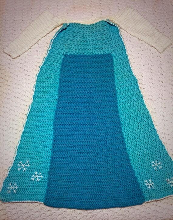 Anna And Elsa Crochet Princess Dress Blanket Patterns From