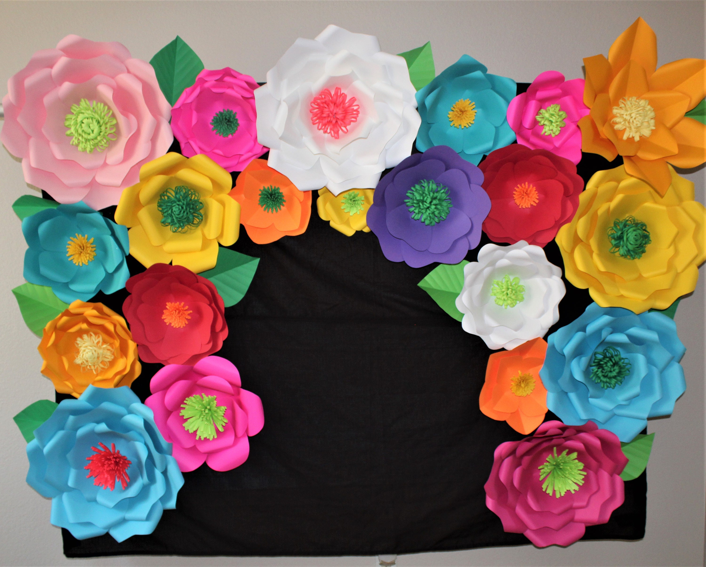 Party Backdrop Mexican Flower Paper Pretty Picturesboss