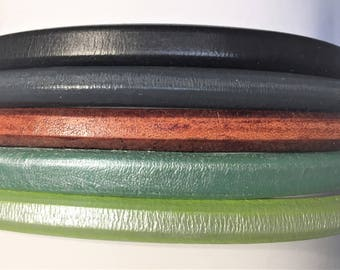 "Shorts: 5 Strands licorice leather bundle, 6"" each, Colors as shown, #2 bundle"
