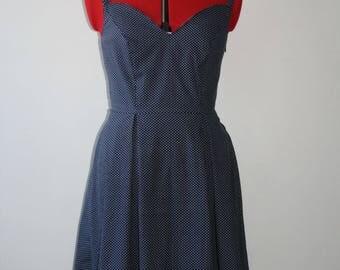 Polka dot dress retro rockabilly pinup polka dot T.38