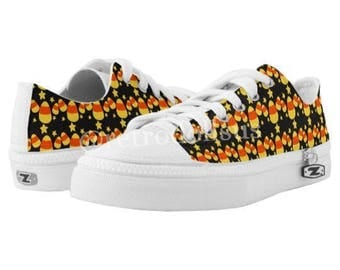 PRE-ORDER Brand New Custom Halloween Candy Corn Women's Tennis Shoes