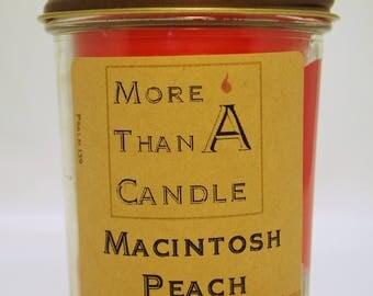 8 oz Macintosh Peach Soy Candle
