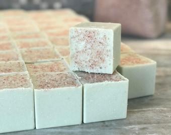 Ginger Orange Sea Salt Soap Wholesale Soap All Natural Detox Salt Bar Organic Soap Aromatherapy Bar Essential Oil Square Bar Himalayan Pink