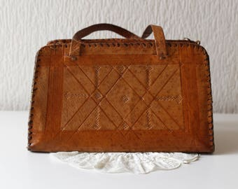 Vintage Brown Real Leather Bag Made in England