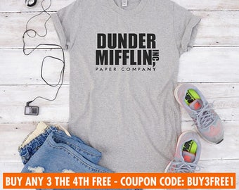 Dunder mifflin shirt for teen gifts shirt women funny tshirt slogan shirt tumblr tshirt women tshirt men tshirt fashion shirt gifts present