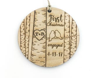 Engaged Christmas Ornament | Custom Ornament Engaged | Personalized Engaged Christmas Ornament | Custom Wedding Ornament