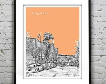 Flagstaff Arizona Poster Print Art Skyline Item T1087
