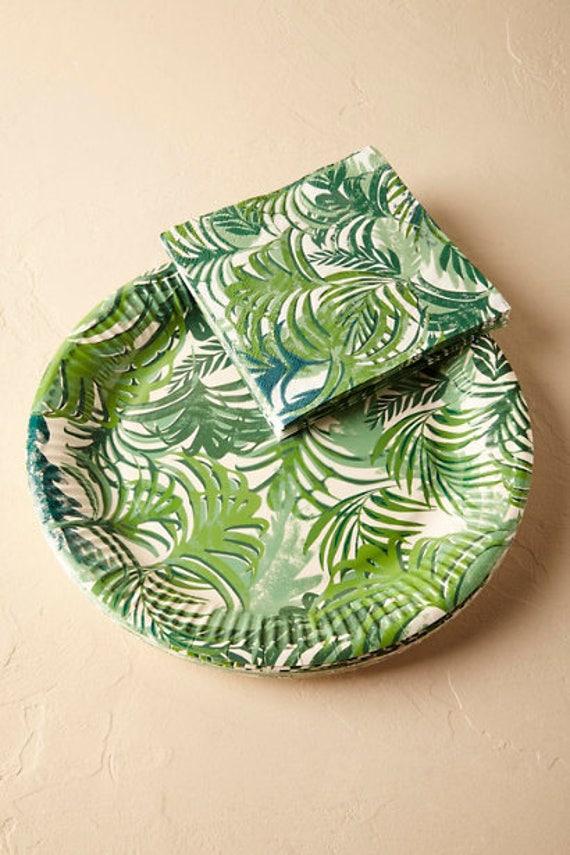 Like this item? & 12x jungle theme Leaf Plates party plates tropical theme