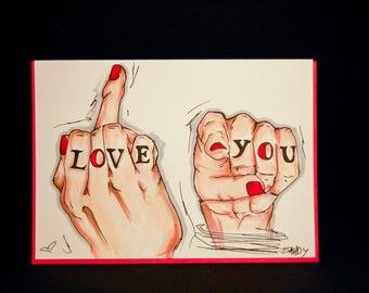 Custom Hand Illustrated Cards
