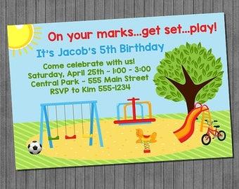 FLASH SALE Park Birthday Invitation
