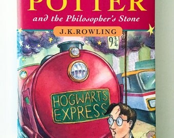 J.K Rowling / Harry Potter and the Philosophers Stone / Hardcover / 1997 / 1st/First Edition / vintage book/ collectable