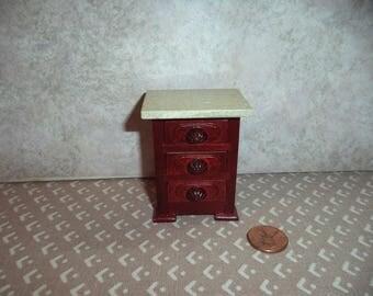 1:12 scale Dollhouse Miniature Dark Mahogany Night Stand