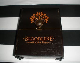 Bloodline Cigar Box Valet, Watch Box, Stash Box, Jewelry Box, Authentic, Tampa
